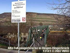 Alte Fußgängerbrücke in Bingen-Bingerbrück